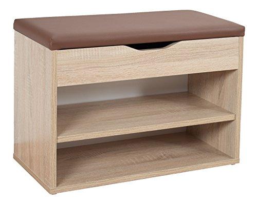 RICOO Sitzbank mit Schuhregal Flur Sitzfläche Aufklappbar